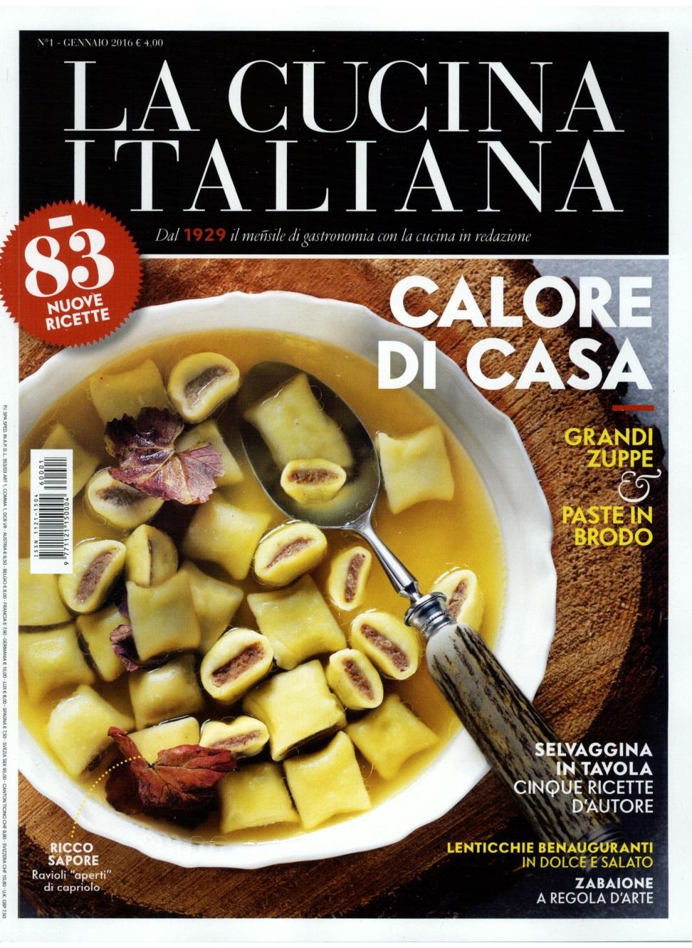 La Cucina Italiana 01.01.2016 Cover