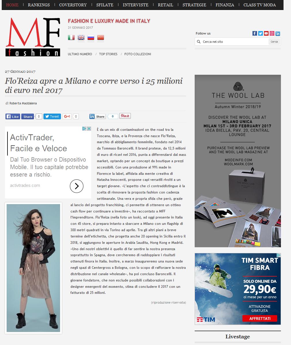 | FLO'REIZA | NEW IN @STUDIO FANFANI