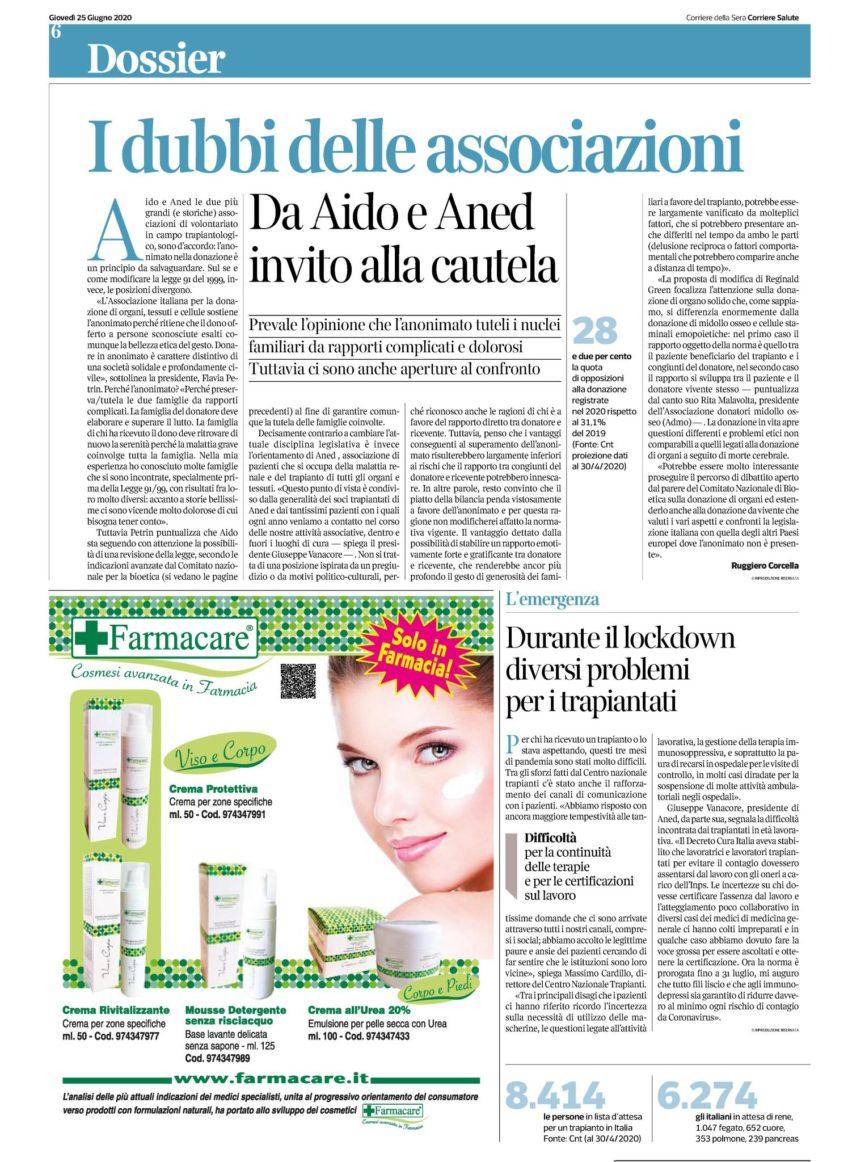 Corriere Della Sera 25.06.20